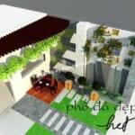 Tiểu cảnh sân vườn 3D