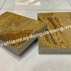 Đá vàng vân gỗ lát sân 20x30cm