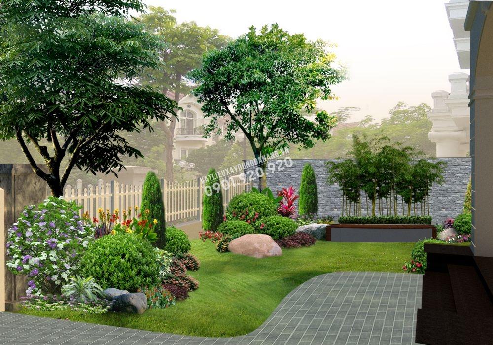 đá tự nhiên lát sân vườn