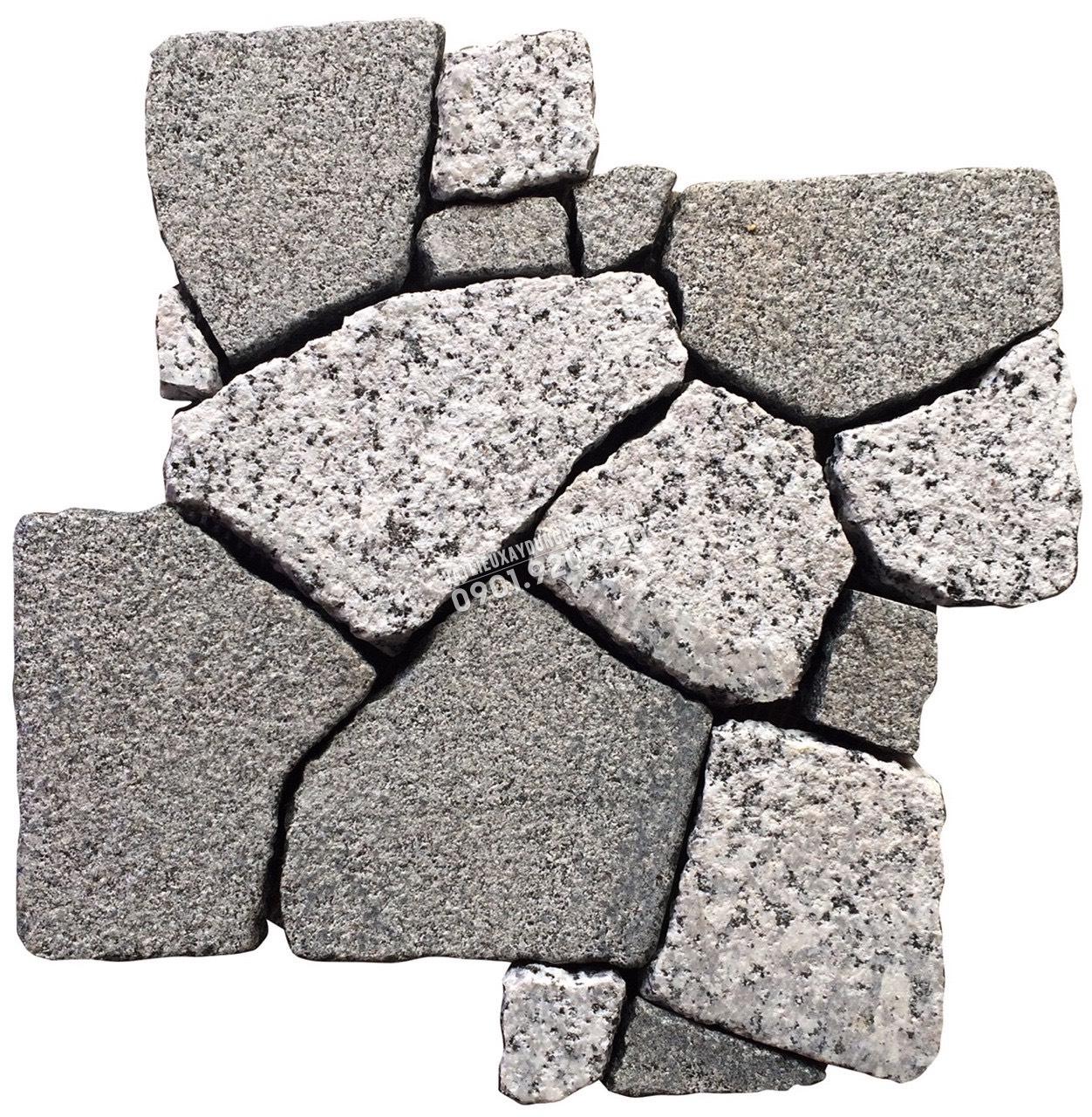 đá mosaic đen trắng khò