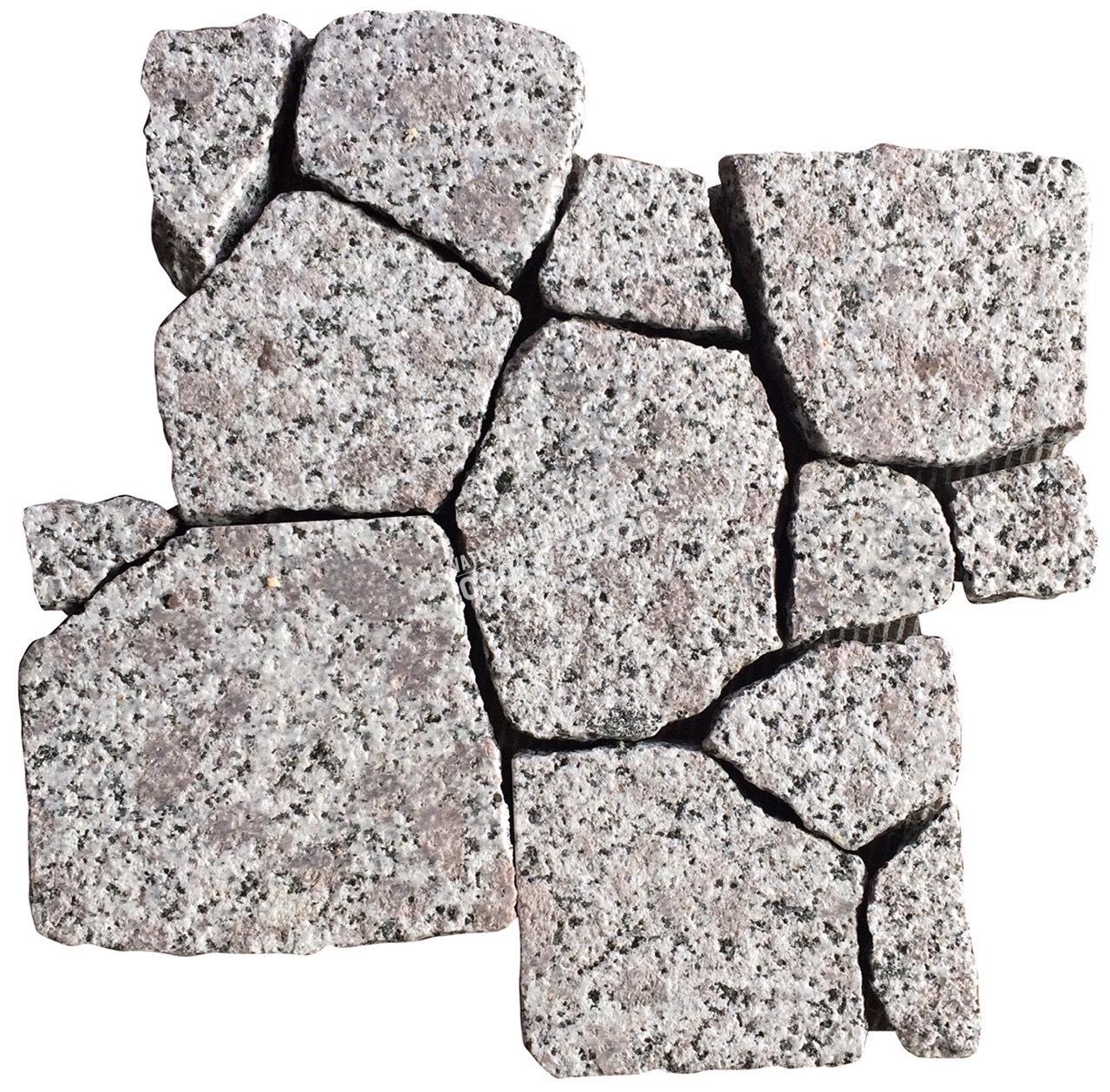 đá mosaic trắng sao băm