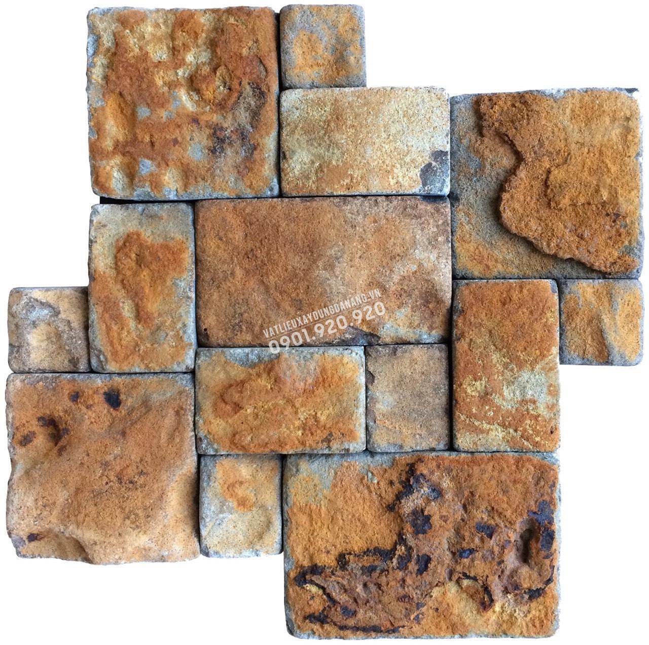 đá mosaic vàng bìa tự nhiên