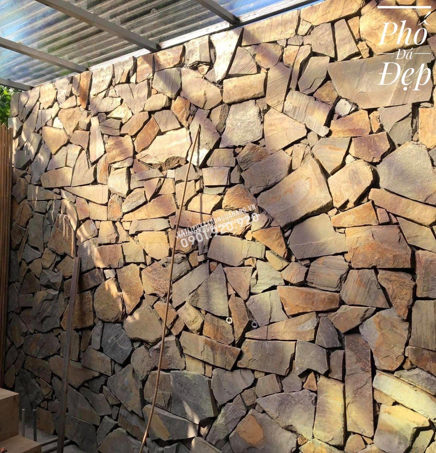 công trình đá ốp tường